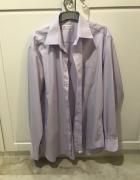 Koszula męska jasnofioletowa liliowa kołnierzyk 43