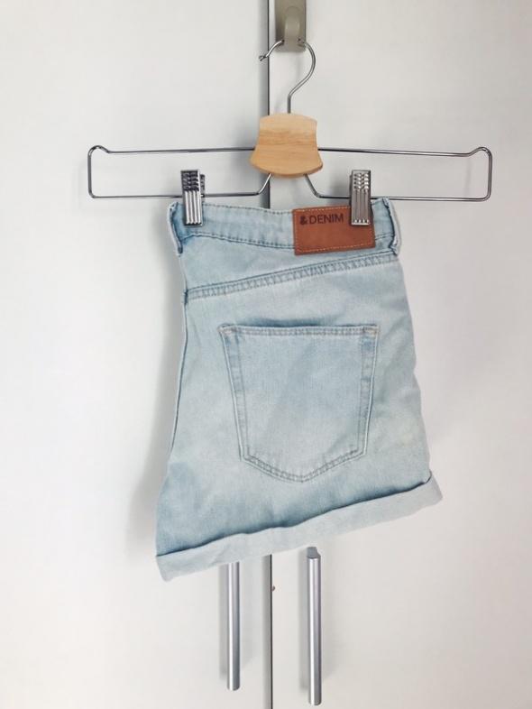 jeansowe spodenki H&M klasyczne szorty 36