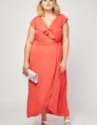 Nowa sukienka Dorothy Perkins 50 5XL maxi długa koralowa na wes...