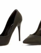 Seksowne szpilki damskie rozmiar 38 nowe matowe czarne