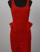 Sukienka Boohoo z baskinką rozmiar S
