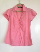 Łososiowa XS S M 34 36 38 Różowa koszula z krótkim rękawem używ...