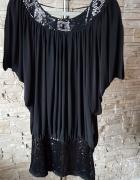 Czarna tunika sukienka z Paryża...