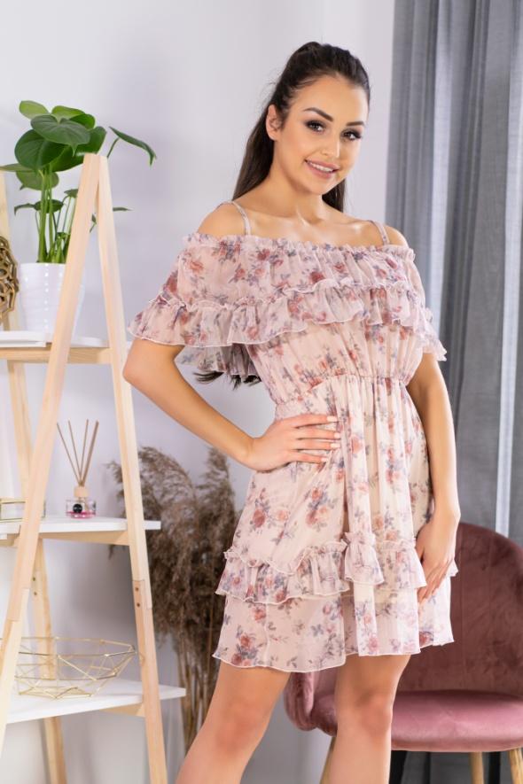 Zwiewna sukienka w kwiaty hiszpanka S M L...