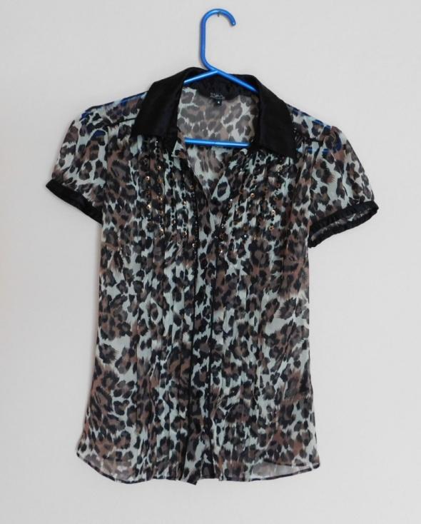 Bluzki Debenhams bluzka mgiełka panterka cekiny 36 38