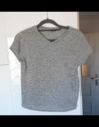 Topshop szara koszulka tshirt minimalizm...