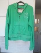 Abercrombie Fitch zielona bluza z kapturem kangurk...