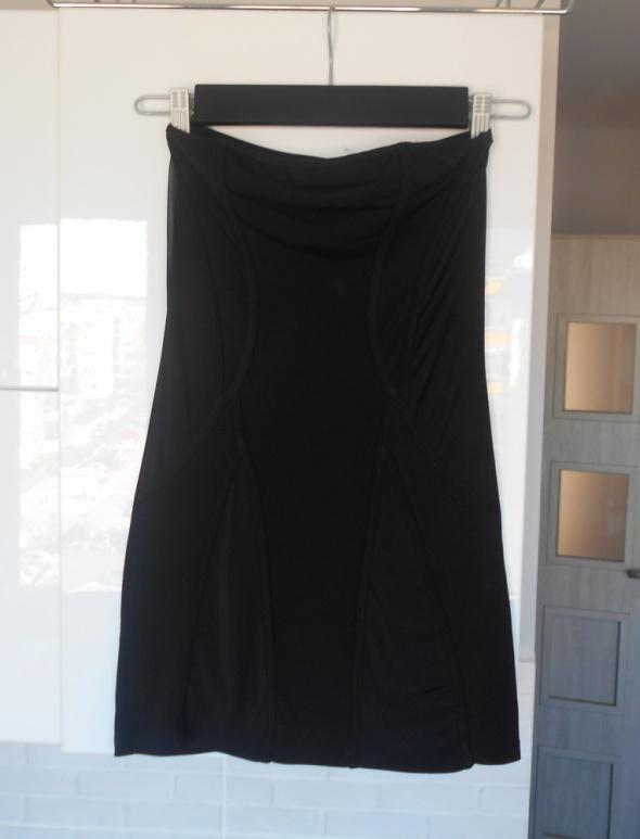 Suknie i sukienki Asos czarna sukienka mini halka bodycon obcisła