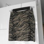 Gina Tricot szara bodycon mini spódniczka panterka tygrys print