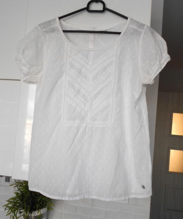 Bluzki Esprit biała bluzeczka hafty