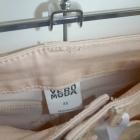 Pudrowe rurki skinny fit vero moda wysoki stan XS na XXS