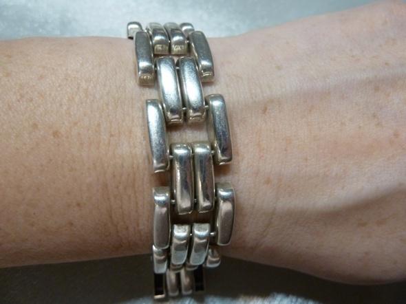 bransoleta srebrna układanka...
