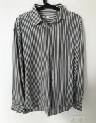 Koszula w paski szaro białe Jean Paul