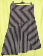new look szara spódnica paski 36...