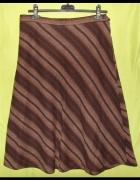 brązowa spódnica M...