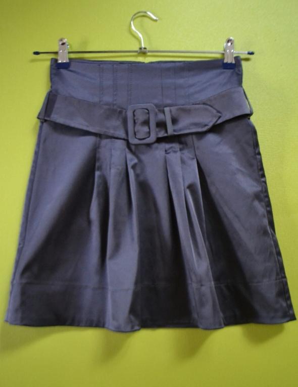 Spódnice Spódniczka z paskiem szara MINI 36 H&M