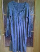 Sukienka boho szara sznureczek kaszmir 38 40 42