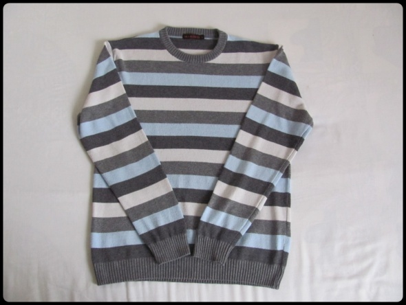 Męski sweter w paski MARINO rozmiar XL...