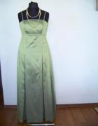 Długa zielona plisowana suknia nowa rozmiar 40...