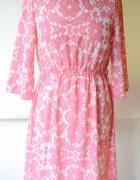 Sukienka H&M M 38 Kwiaty Elegancka Różowa Kwiatki...