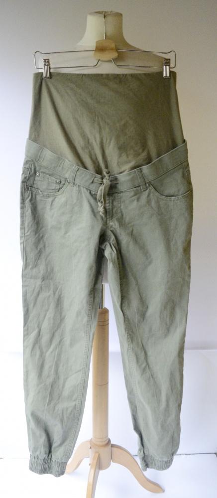 Spodnie Ciążowe Khaki Zielone Bonprix M 38 Gumki Mama Mom