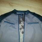 cudna kurtka brązowo czarna z naturalnej cielęcej