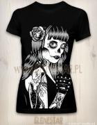 Czarna koszulka Los Muertos GLOVESTAR