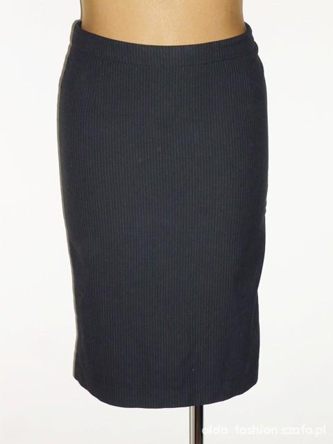 H M stalowa spódnica prążkowana 40 42