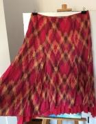 Czerwono rozowa rozkloszowana spodniczka rozm xxl...
