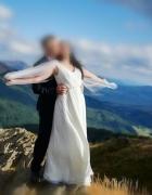 Suknia ślubna grecka elegancka prosta rozmiar 38...