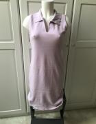 Bawełniana sukienka typu Lacoste liliowa...