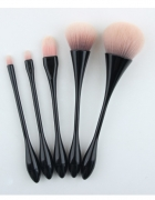 Nowe pędzle do makijaży zestaw komplet miękkie różowe czarne rą...