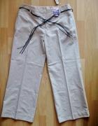 GEGRGE nowe eleganckie spodnie z paskiem 42