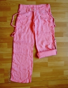 SOCCX różowe spodnie lniane 100 len rozmiar M