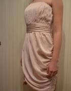 Wieczorowa sukienka 38 pudrowy róż...