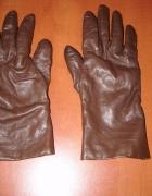 Skórzane rękawiczki brąz