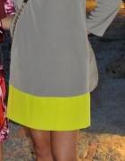 Sukienka Benetton beż szary seledyn S