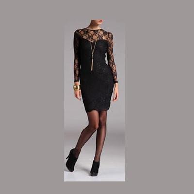 Suknie i sukienki Mała czarna sukienka koronka 36 S Top Secret