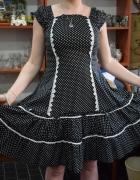 Sukienka retro w groszki...
