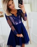 Koronkowa sukienka haft XS S M L XL kolory...