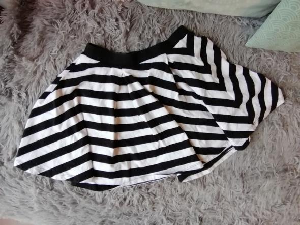 Spódnice Rozkloszowana spódnica pasiak paski FandF mini