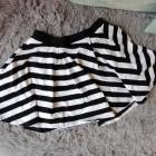Rozkloszowana spódnica pasiak paski FandF mini