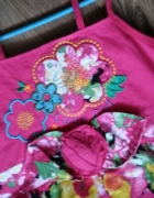 Sukienka różowa w kwiaty letnia...