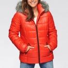 40 42 Zimowa pikowana kurtka kaptur