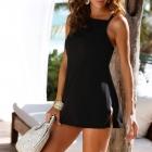 46 3XL Strój kąpielowy sukienka kąpielowa black