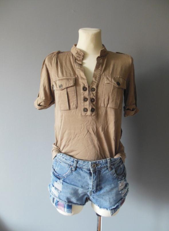 Bluzki Beżowa sportowa bluzka rozmiar S