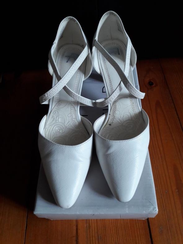 Buty ślubne Białe czółenka rozmiar 39