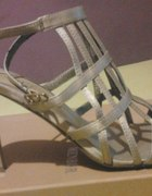 Srebrne sandałki rozmiar 38 jak nowe
