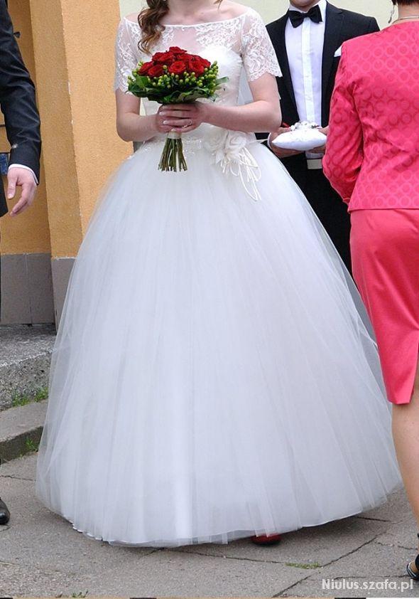 suknia ślubna ecru balerina