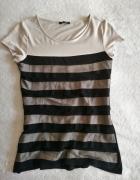 Bluzka tiulowe paski S Orsay...
